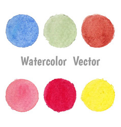 set of colorful spot watercolor stain vector image