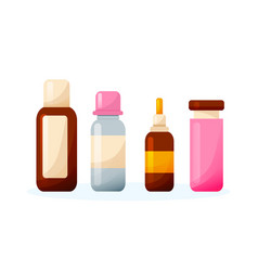 set various sprays syrups drops tablets vector image