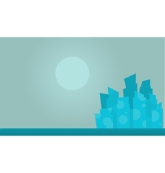 silhouette of city collection at night vector image