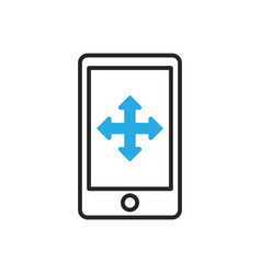Smartphone icon mobile move gesture vector