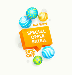 special extra offer banner promotion and shopping vector image