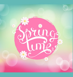 spring time typographical background vector image vector image
