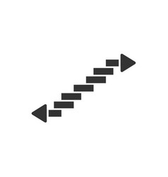 Stairs icon flat vector
