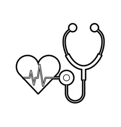 Stethoscope medical with heart vector