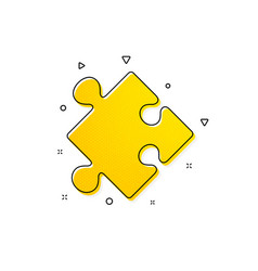 Strategy icon puzzle symbol logical knowledge vector