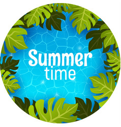 swimming pool top view summer time poster banner vector image