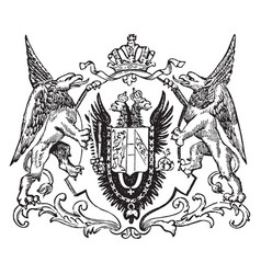 The great seal of the austro-hungarian monarchy vector