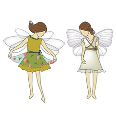 Two cute fairies vector