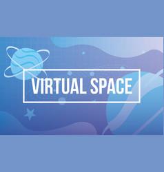 Virtual space scene technology icon vector