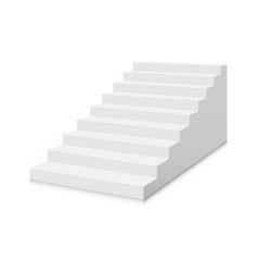 White stairs template interior staircases vector