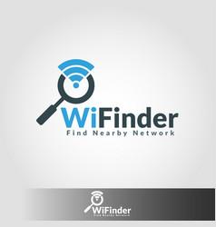 wifi finder - hot spot network finder vector image