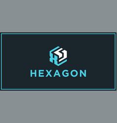 Xs hexagon logo design inspiration vector