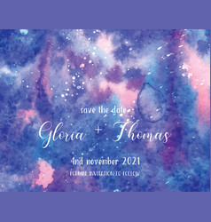 greeting card for wedding day with space vector image vector image