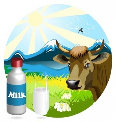 milk vector image