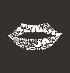Mouth body vector image vector image