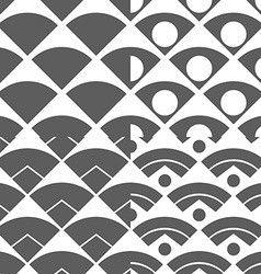 Set of Abstract Peacock Tail Seamless Pattern vector image vector image