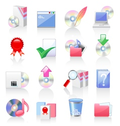 software and application icons vector image vector image