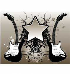star guitar vector image vector image