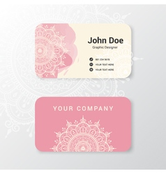 Beautiful business name card template vector image vector image