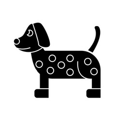 dog dalmatian icon sign o vector image vector image