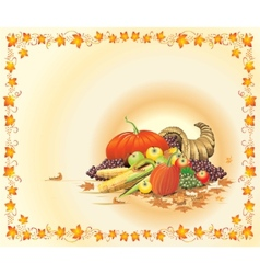 hot and bright thanksgiving postcard vector image