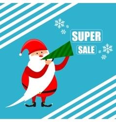 Santa super discount new year vector image vector image
