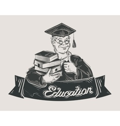 school college university logo design vector image