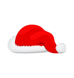 single santa claus red hat realistic vector image