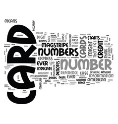 what do the numbers indicate on credit cards text vector image