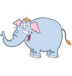 Elephant Cartoon Mascot Character vector image vector image