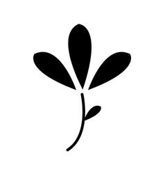 flower spring nature decoration pictogram vector image