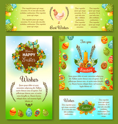 happy easter day wishes poster and banner template vector image vector image