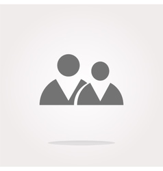icon button with office people inside vector image