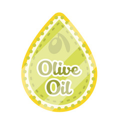 label of olive oilolives single icon in cartoon vector image