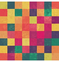 retro colored squares pattern seamless vector image vector image