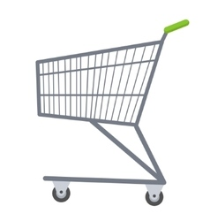 Shopping carts icon flat style Metal trolley vector image vector image