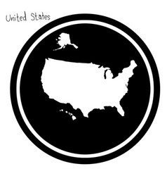 white map of the united states on vector image