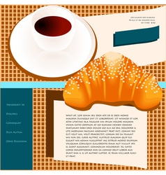 coffee site templates vector image vector image