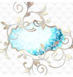 emblem in vibrant blue on white vector image vector image