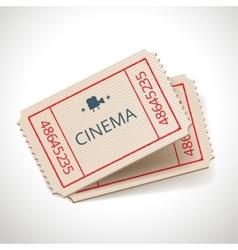 retro tickets vector image vector image