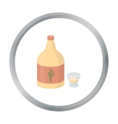 Tequila icon in cartoon style isolated on white vector image vector image
