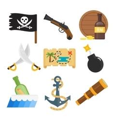 Treasures icons set vector image vector image