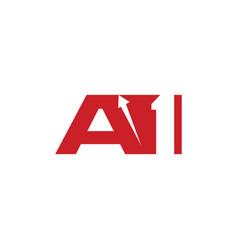 A1 logo with arrow up vector