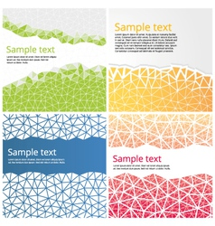 Abstract backgrounds with triangles vector image