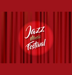 abstract jazz music festival advertising poster vector image