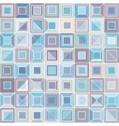 Abstract pattern with square tiles vector image