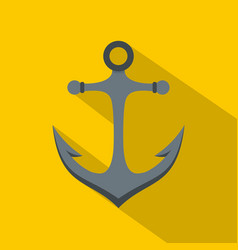 Anchor icon flat style vector
