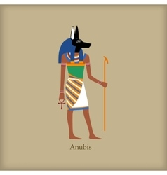 Anubis God of the dead icon flat style vector