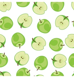 Apple seamless pattern Green apple pattern on vector
