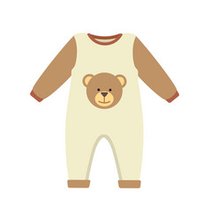 Baby clothes costume poster vector